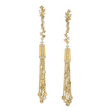 "18k Gold & Multicolored Diamond ""Tassel Moderne"" Drop Earrings"