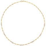 18k Gold &amp; Diamond Twistwire Necklace