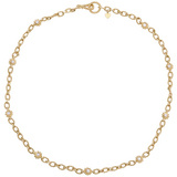 18k Yellow Gold & Diamond Link Necklace