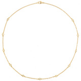 18k Gold & Diamond Station Necklace