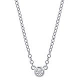 Bezel-Set Diamond Solitaire Pendant (~0.2 ct)