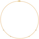 &quot;Wire&quot; 18k Gold &amp; Diamond Collar Necklace