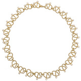 18k Gold &amp; Diamond Love Knot Necklace