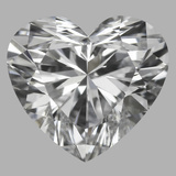 0.75 Carat Heart Diamond (D/VS1)