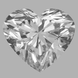 3.02 Carat Heart Diamond (D/IF)