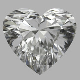 0.80 Carat Heart Diamond (E/VVS2)
