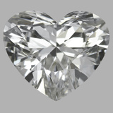 0.90 Carat Heart Diamond (F/VVS1)