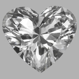 1.01 Carat Heart Diamond (D/VS1)