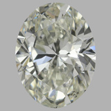 1.00 Carat Oval Diamond (J/SI1)