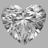 1.02 Carat Heart Diamond (D/SI1)
