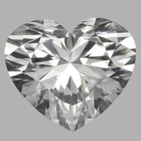 0.78 Carat Heart Diamond (E/VVS2)