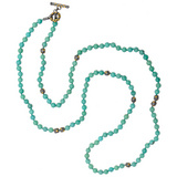 """Libra"" Turquoise Bead Wrap Necklace"