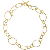 18k Gold Small & Large Oval Link Necklace
