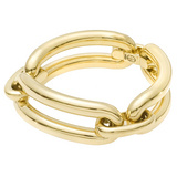 18k Yellow Gold Three-Link Tube Bracelet