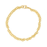 18k Gold Twisted Rope Round Link Bracelet