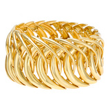 &quot;Double Crescent&quot; 18k Gold Cuff Bracelet