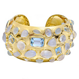 "Gem-Set ""Fifties"" Cuff Bracelet"