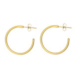 "Small 24k Gold ""Jane"" Hoop Earrings"