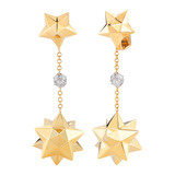 "18k Gold & Diamond ""Star of Venice"" Drop Earrings"