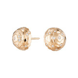 "18k Rose Gold & Diamond ""Jasmine"" Stud Earrings"