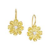 "18k Gold & Diamond ""Jasmine"" Flower Earrings"