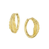 "Small 18k Gold ""Phoenix"" Hoop Earrings"