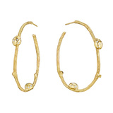 18k Yellow Gold & Diamond Ladybug Hoop Earrings