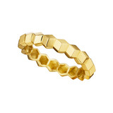 """Brillante"" 18k Yellow Gold Band Ring"