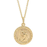 Small 14k Gold St. Christopher Pendant