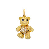 18k Gold & Diamond Teddy Bear Charm