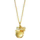 Citrine Honey Pot & Bee Pendant