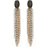 Rose-Cut Diamond &amp; Seed Pearl Tassel Earrings