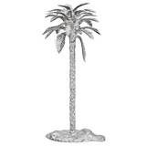 Silver Date Palm Tree Candlestick