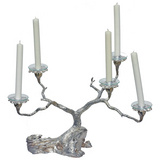 Silver Oak Tree Candelabra