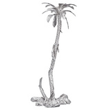 Silver Equatorial Palm Tree Candlestick