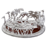 Silver Giraffe Wine Coaster