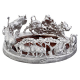 Silver Warthog Wine Coaster