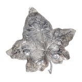 Large Silver Ivy Leaf Dish