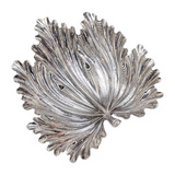 Large Silver Fig Leaf Dish