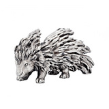 Small Silver Porcupine Sculpture