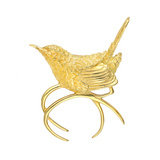 18k Gold Wren Pin