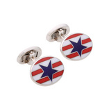 Silver Stars & Stripes Cufflinks