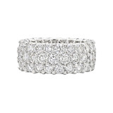 3-Row Diamond Eternity Band (~10 ct tw)
