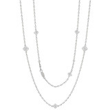 Diamond Cluster Long Chain Necklace