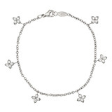 Diamond Cluster Drop Bracelet