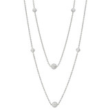 Diamond Globe Long Chain Necklace