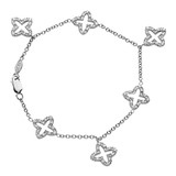Mikado Diamond Charm Bracelet