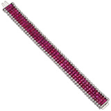 Invisibly-Set Ruby & Diamond Bracelet
