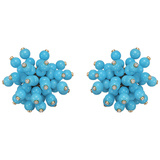 Turquoise & Diamond 'Pom Pom' Earrings