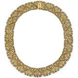 """Arc"" 18k Gold & Diamond Collar Necklace"